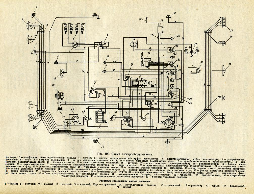 Москвич 412 схема электрооборудования фото 822