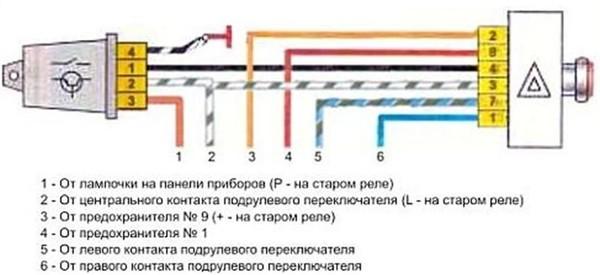 Ваз 2101 схема аварийки