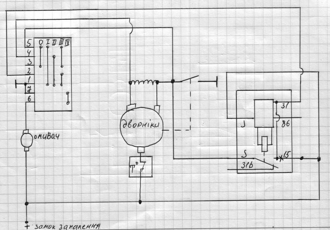 Дворников подключение схема камаз