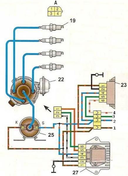 схема подключения тахометра ваз-2106 к генератору москвич 412