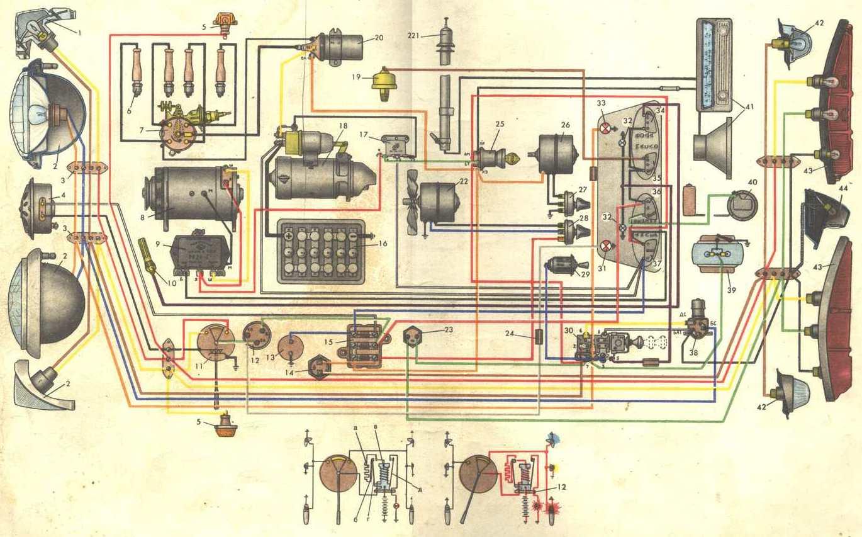 схема электрооборудования иж москвич-412э